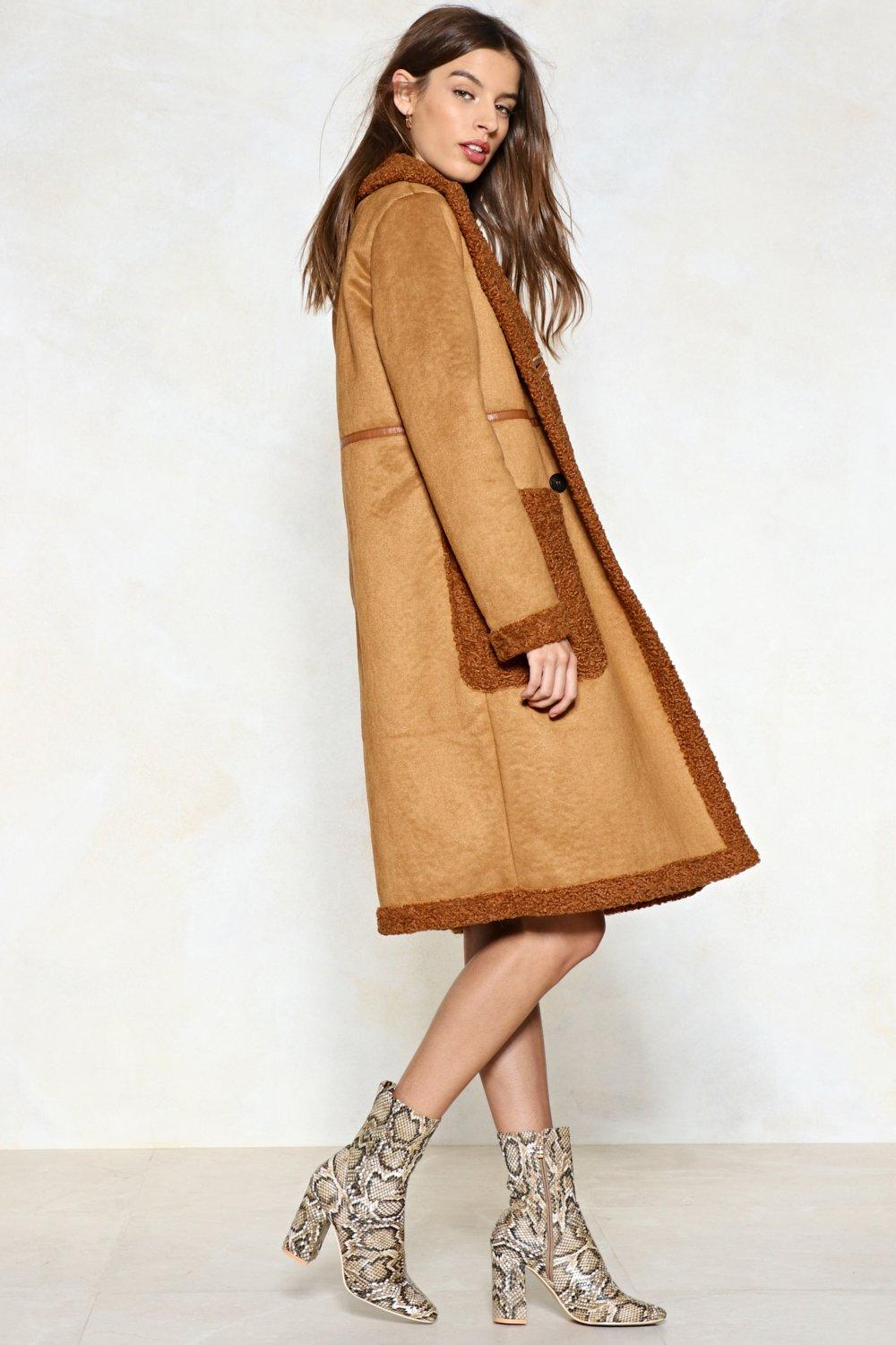 62801f28 In the Fur-eseeable Future Faux Fur Shearling Coat | Shop Clothes at ...