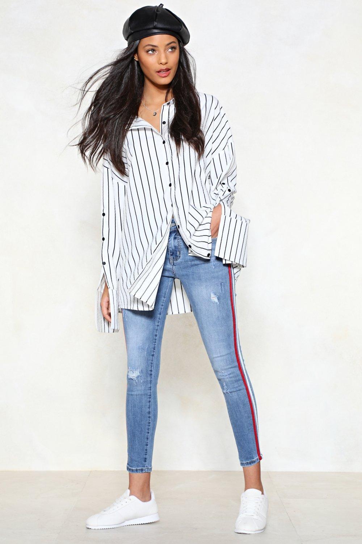 3af32b591dbc Stripe By My Side Skinny Jeans