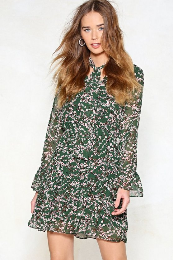 Let It Grow Floral Dress by Nasty Gal
