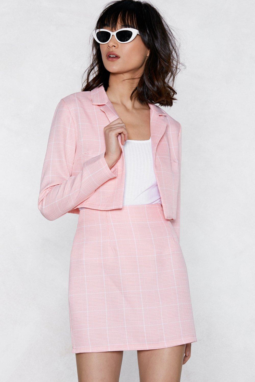 crop in babe grid blazer | shop clothes at nasty gal!