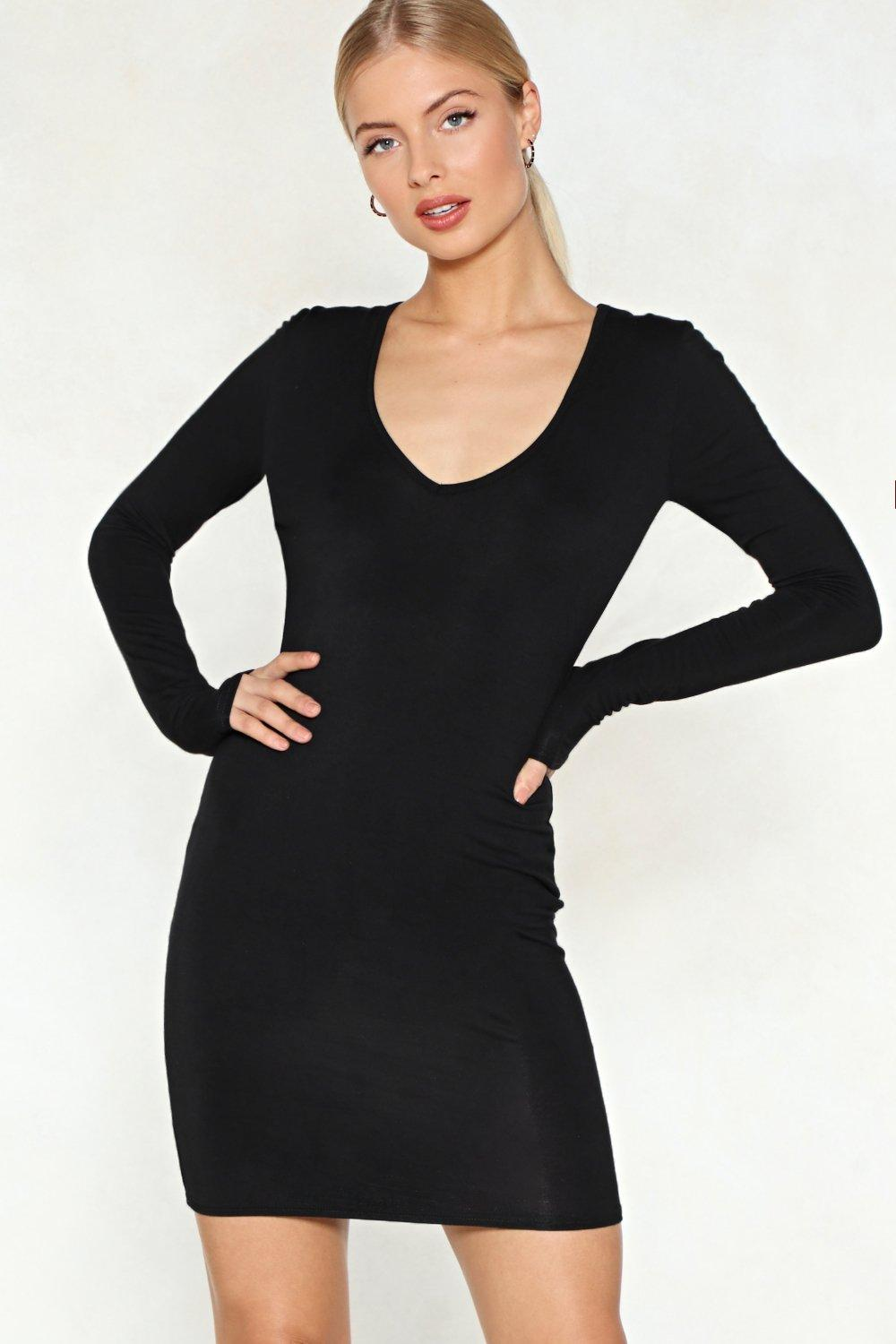41470528d Womens Black Couldn t V Happier Bodycon Dress. Hover to zoom