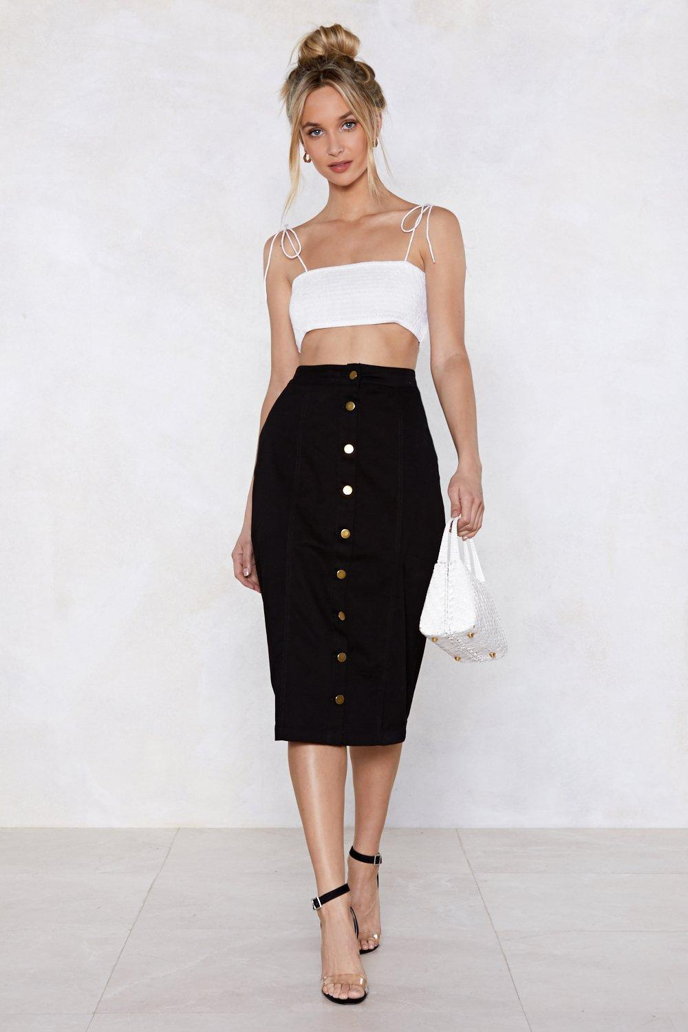 c648f118baa Button-Up to Date Denim Skirt   Shop Clothes at Nasty Gal!