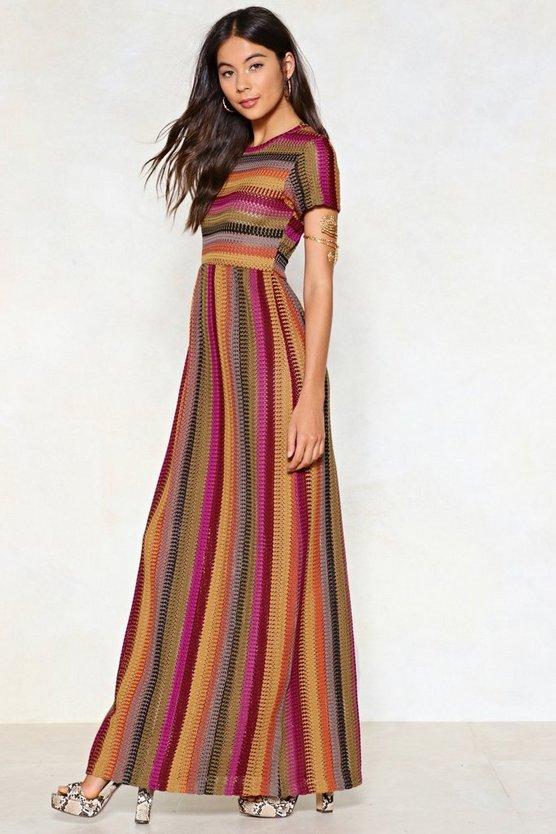 Stripe One Maxi Dress