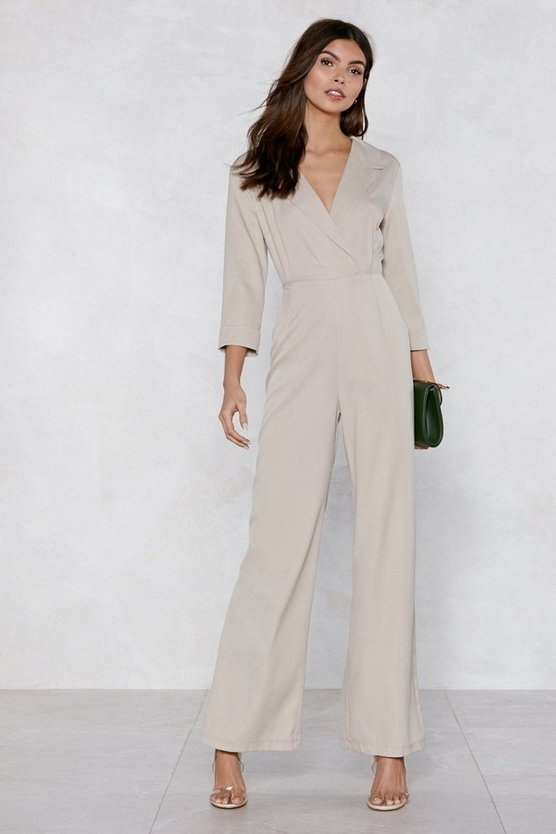 Suits You Tuxedo Jumpsuit by Nasty Gal
