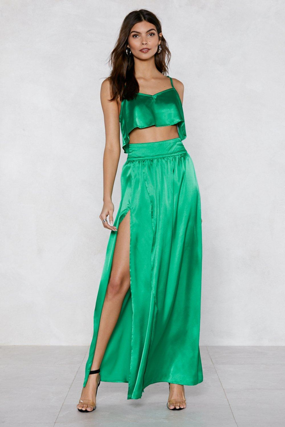 6a38677aaa Give Us Your Two Cents Crop Top and Maxi Skirt | Shop Clothes at ...