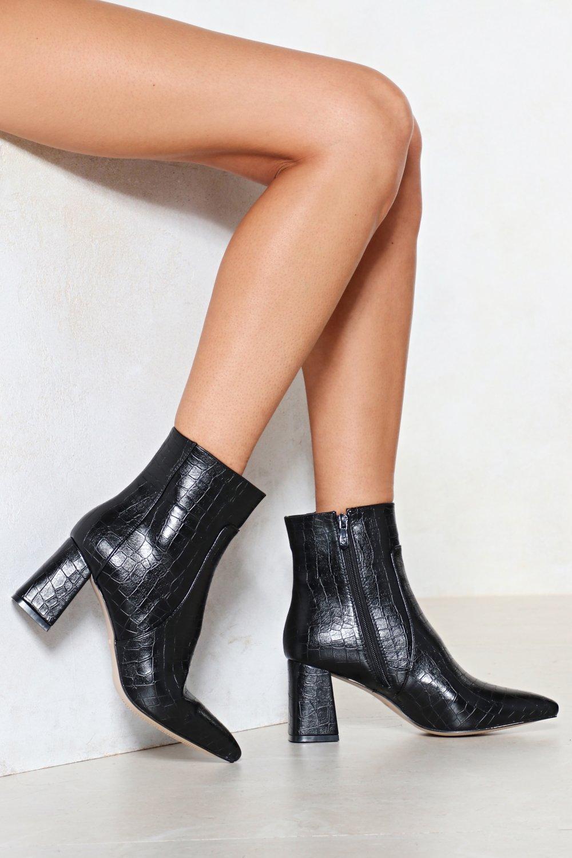 d1328bb367 Croc It Out Faux Leather Boot