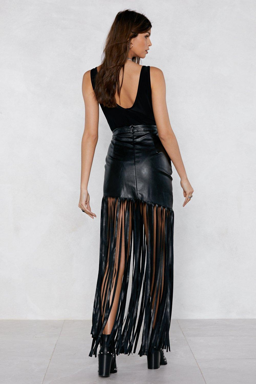 b76e594f0086f The Swing of It Faux Leather Skirt | Shop Clothes at Nasty Gal!