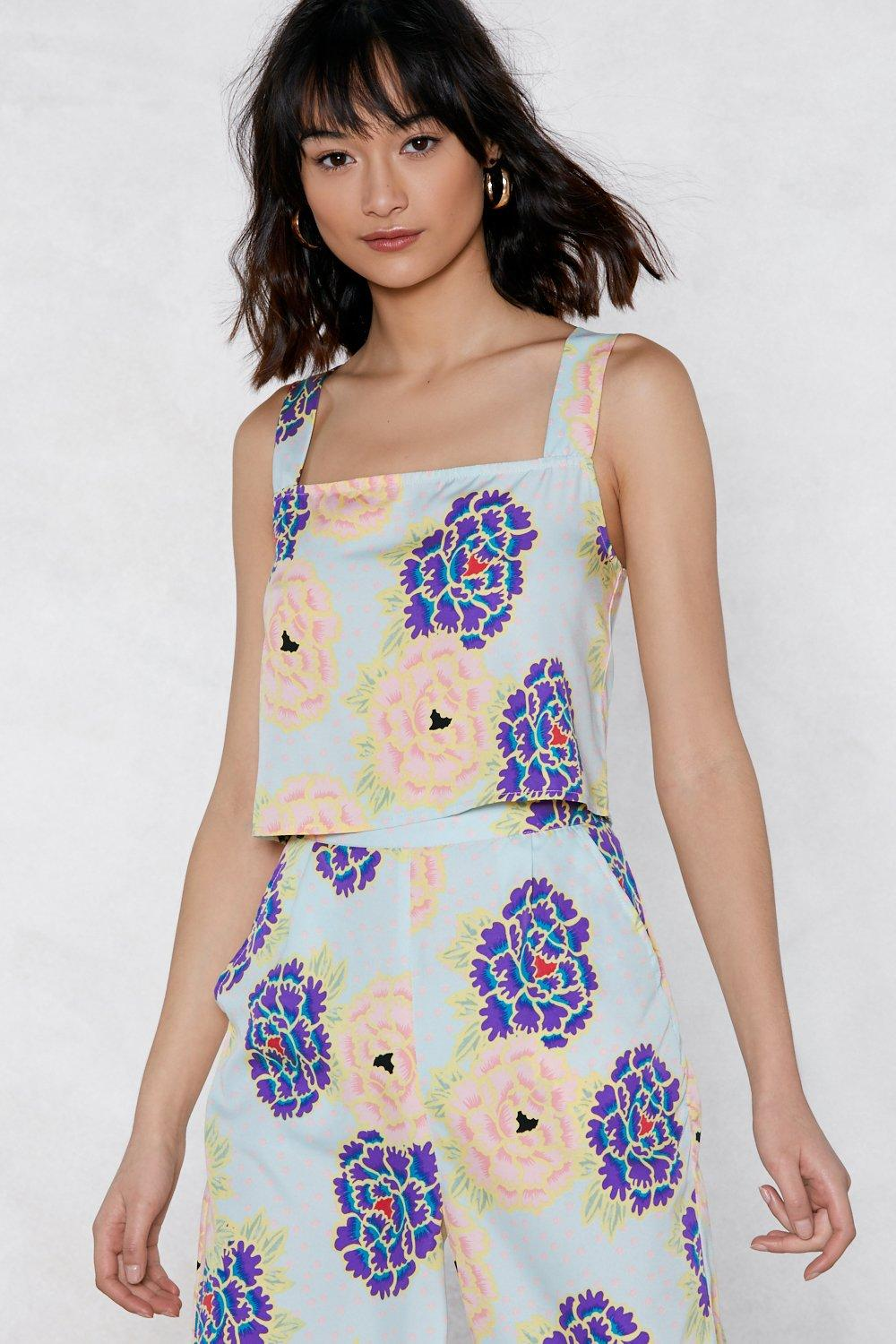 the flower of love floral cami top shop clothes at nasty gal