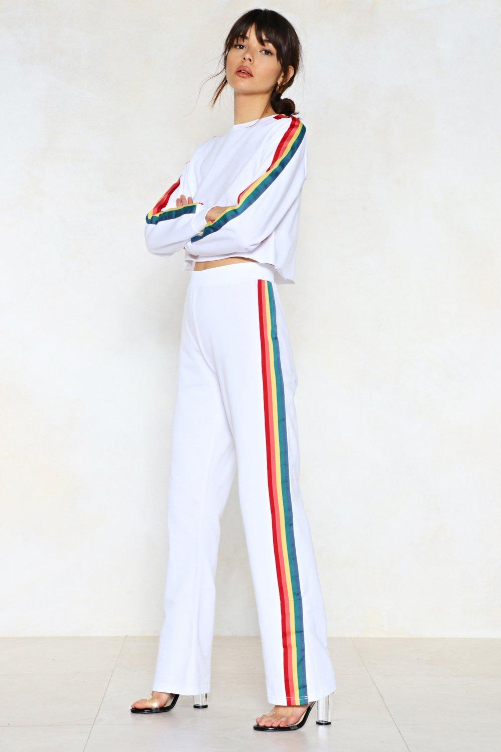 d711cd44323 Womens Side With Me Rainbow Joggers