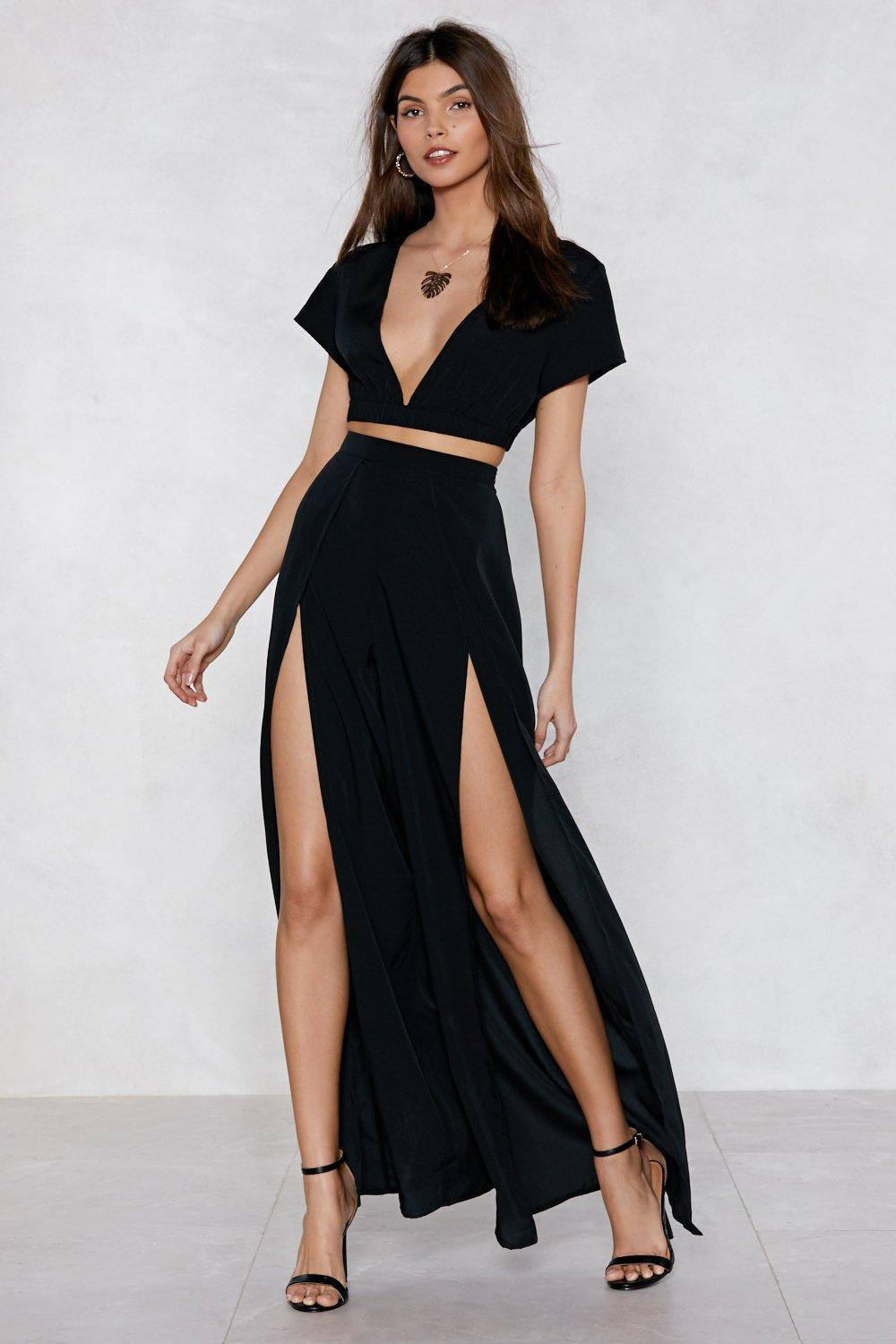 9e65c65e0 Slit or Miss Crop Top and Pants Set | Shop Clothes at Nasty Gal!