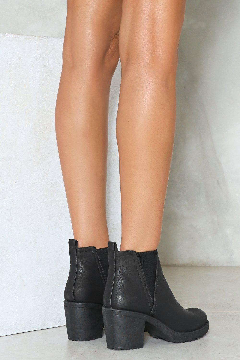 A Little Less Conversation Faux Leather Boot cheap sale good selling discount official site UK2cG2t2
