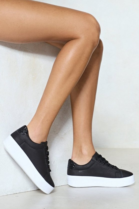 You've Got What It Snakes Vegan Leather Sneaker by Nasty Gal