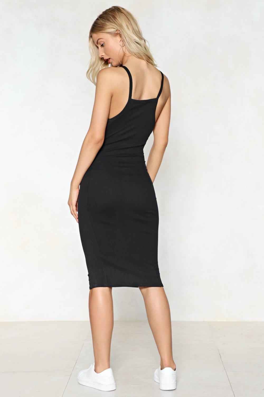 ec8844b819b Womens Black We Square Midi Dress