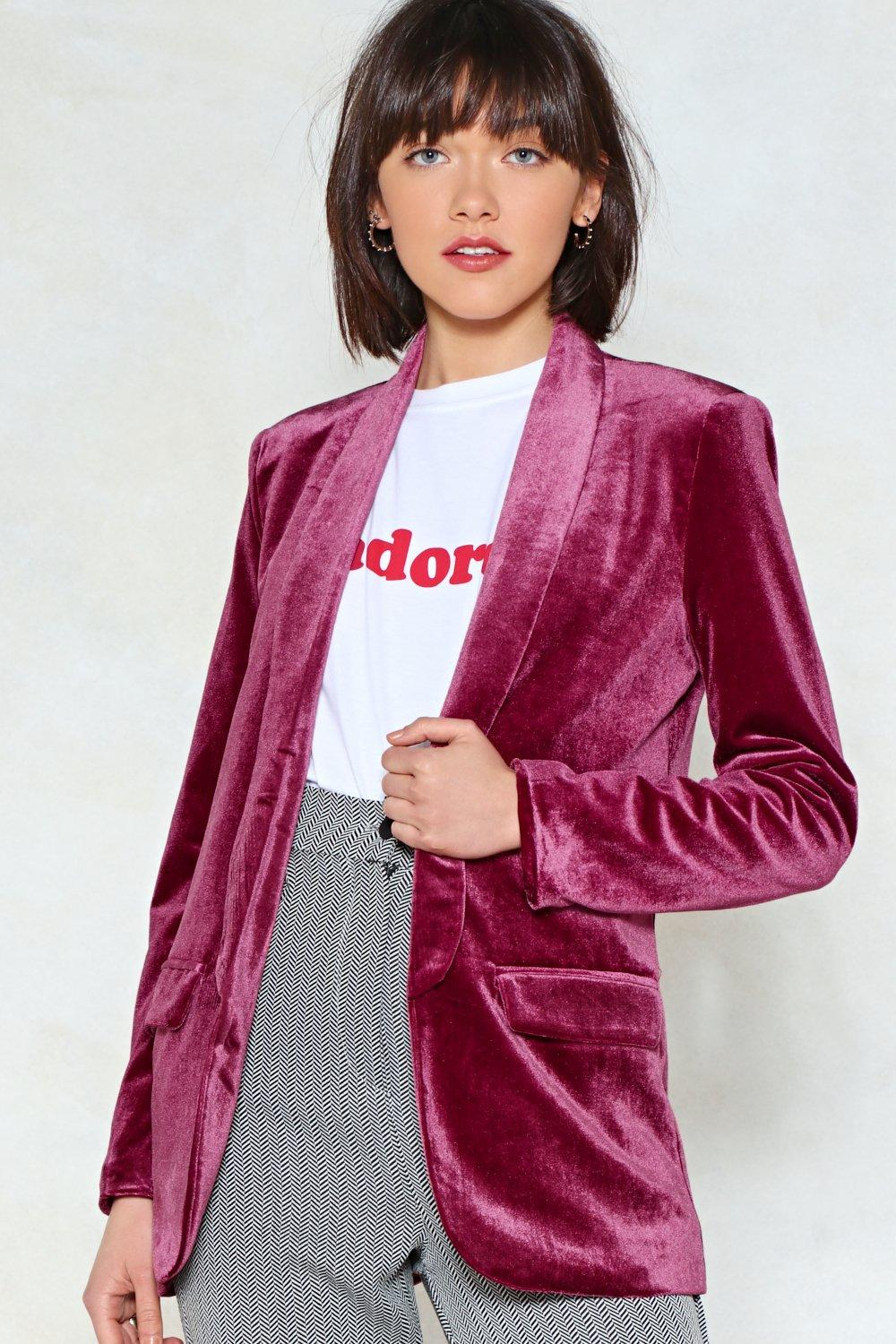 get a load of this velvet blazer shop clothes at nasty gal