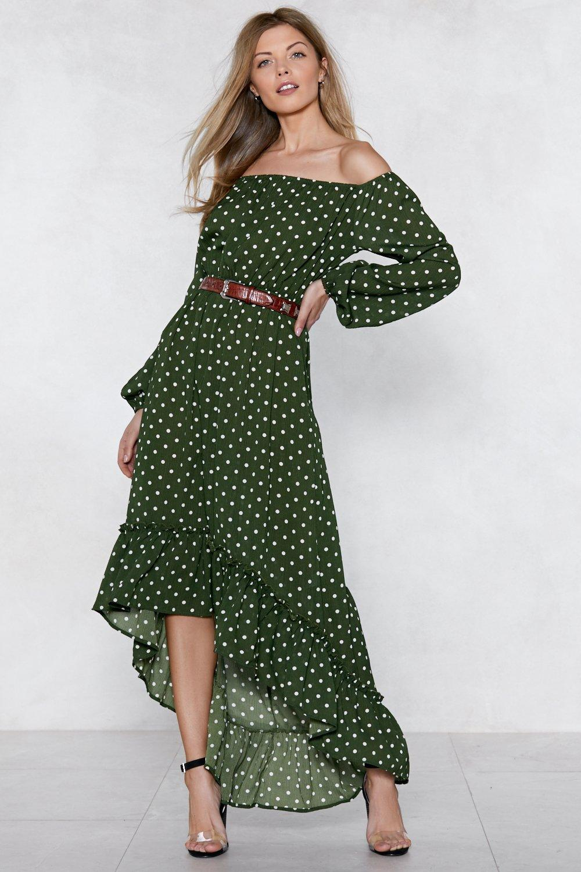 b5442f0c6b0b Spot Me Off-the-Shoulder Dress