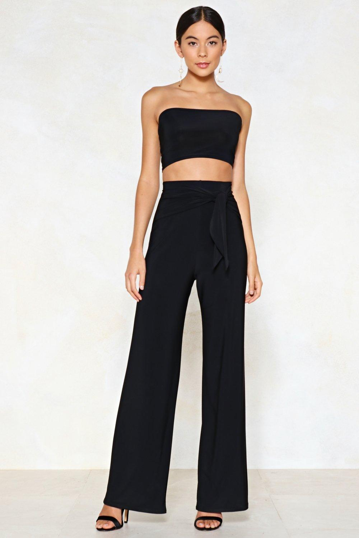 52ec51577f Tie Me Later Bandeau Top and Wide-Leg Pants Set | Shop Clothes at ...