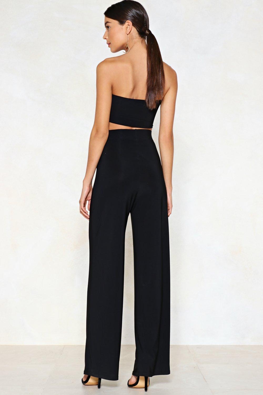 d393e24685cf01 Tie Me Later Bandeau Top and Wide-Leg Pants Set | Shop Clothes at ...