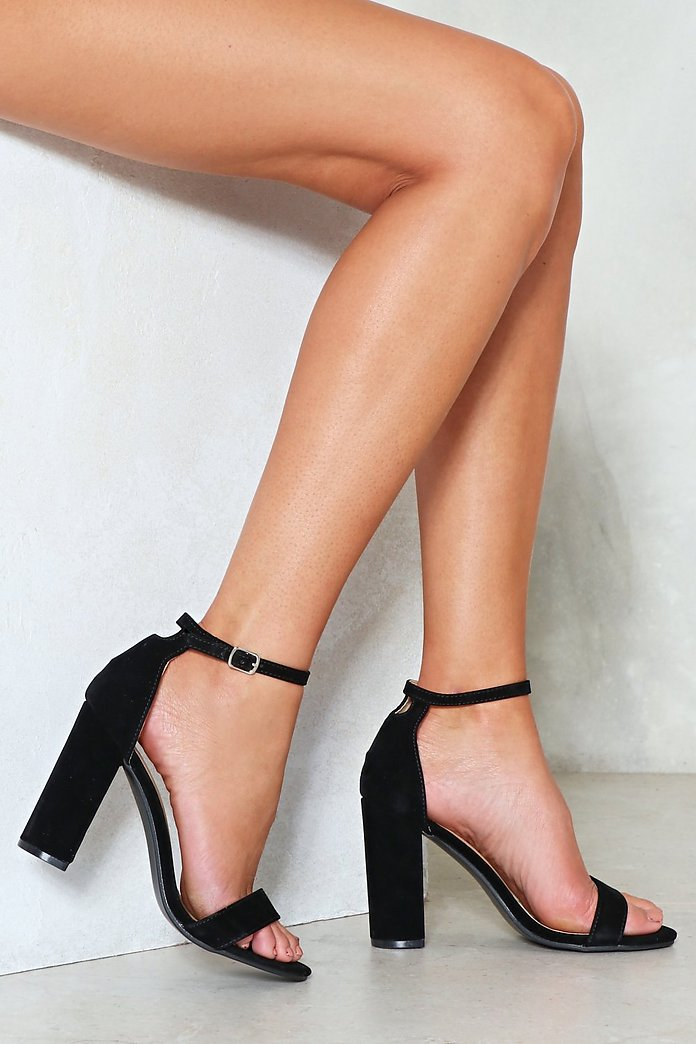 Over and Out Faux Suede Heel | Nasty Gal