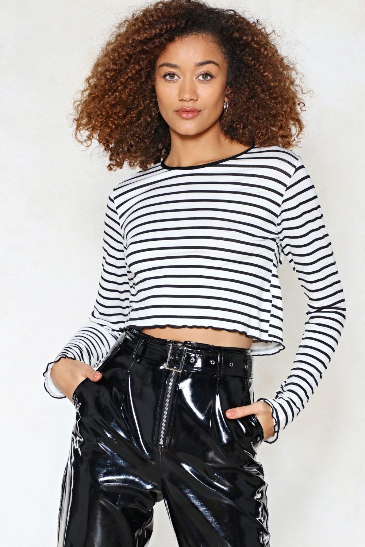c33d16a7a60a60 Drop a Line Striped Crop Top   Shop Clothes at Nasty Gal!