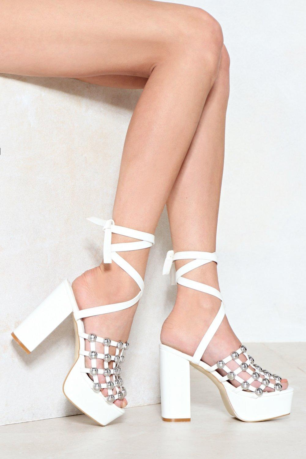 c707ee8c7543 Cage Out of Control Studded Heel