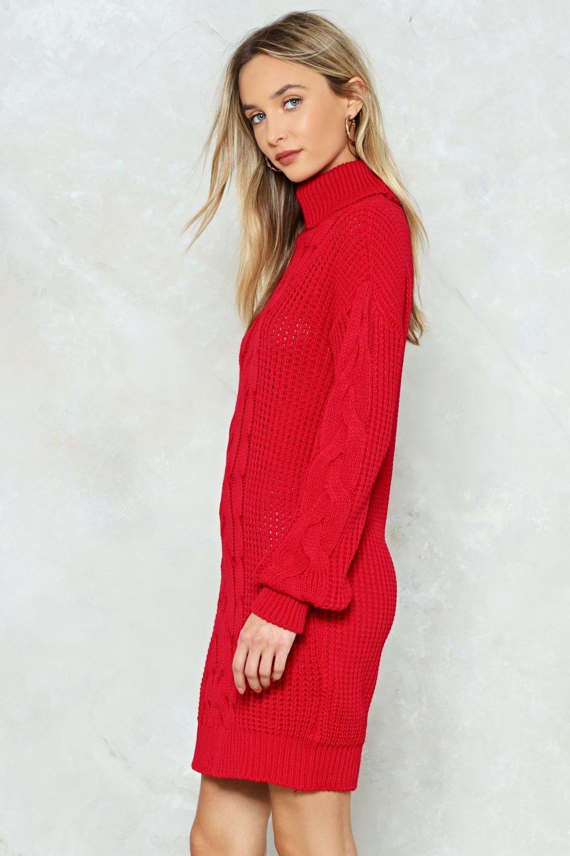 faa71fa9b7 Womens Red Big News Sweater Dress