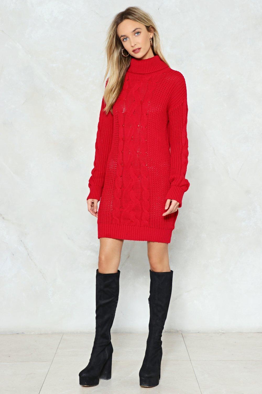 b9c93b353f Womens Red Big News Sweater Dress.