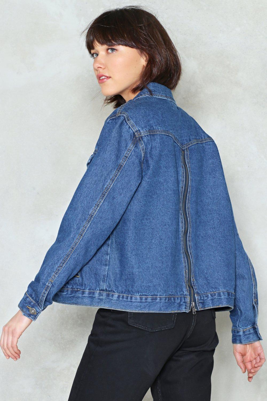 Back To It Zip Denim Jacket Shop Clothes At Nasty Gal