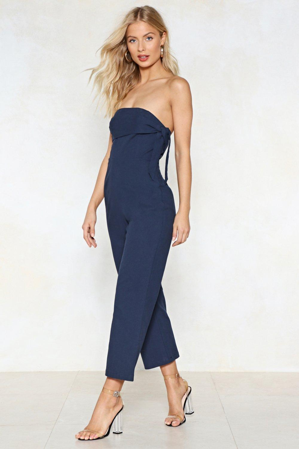 7793d6c6f73 Going Down Town Strapless Jumpsuit
