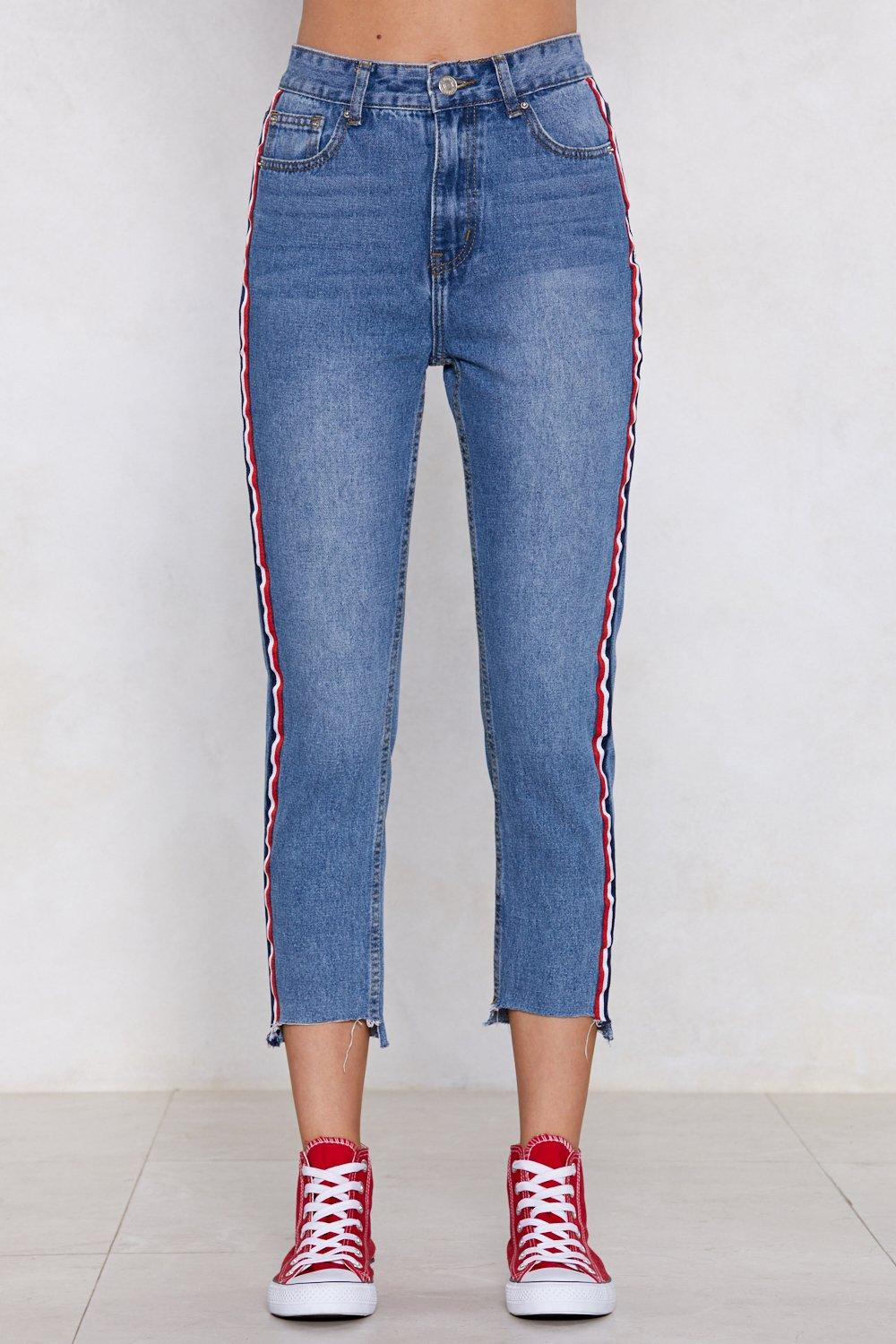 bccf6ab22 You're Absolutely Stripe High-Waisted Jeans | Shop Clothes at Nasty Gal!