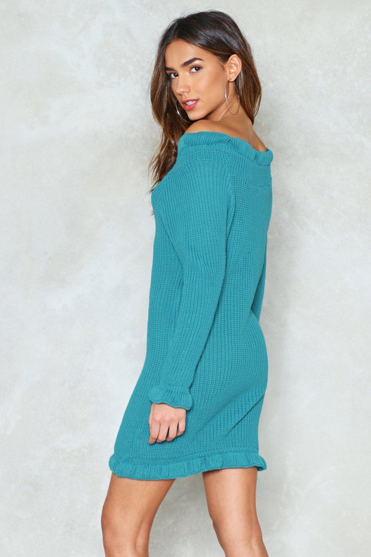 f822c7cc8664 Knit Down Hun Off-the-Shoulder Dress