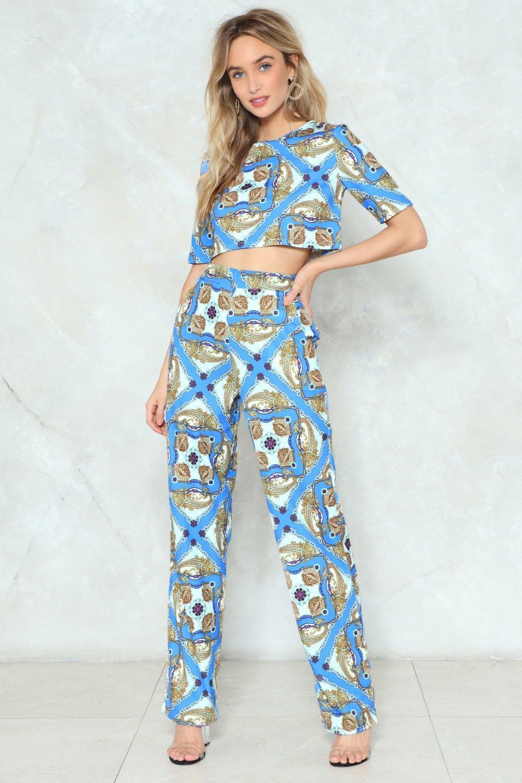 37476ec431 What a Pair Crop Top and Pants Set | Shop Clothes at Nasty Gal!