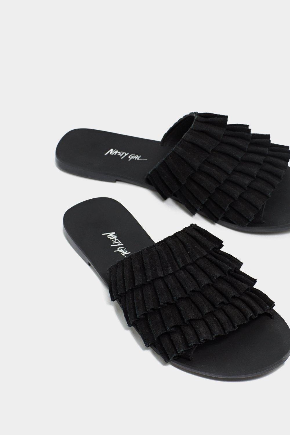 wholesale price cheap price Ruffle Road Ahead Suede Slide Sandal outlet countdown package discount amazing price free shipping excellent qm37lQNMe