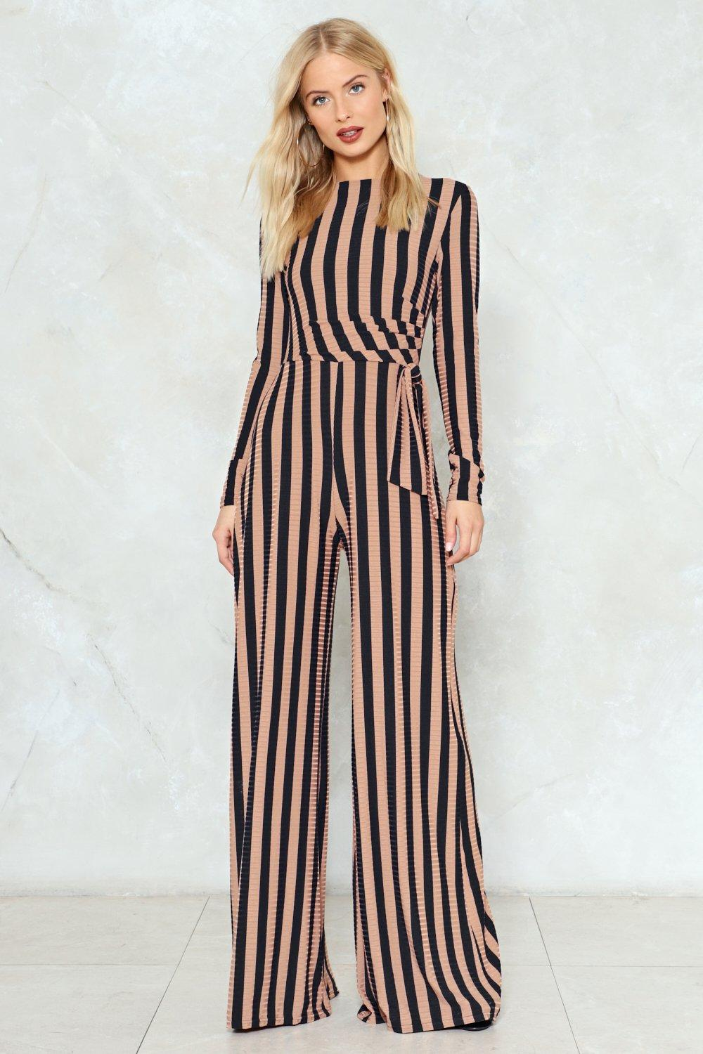 c4ecc5b8bb3 Stripe You Are Ribbed Jumpsuit