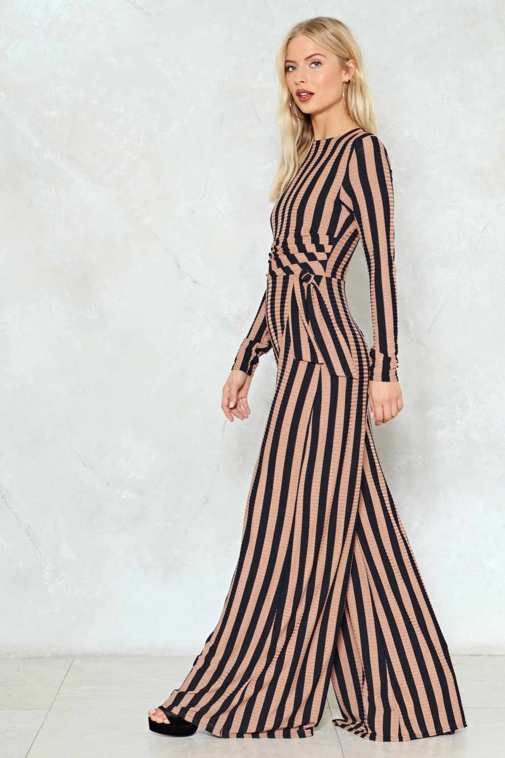 eb549761082 Hover to zoom · Stripe You Are Ribbed Jumpsuit