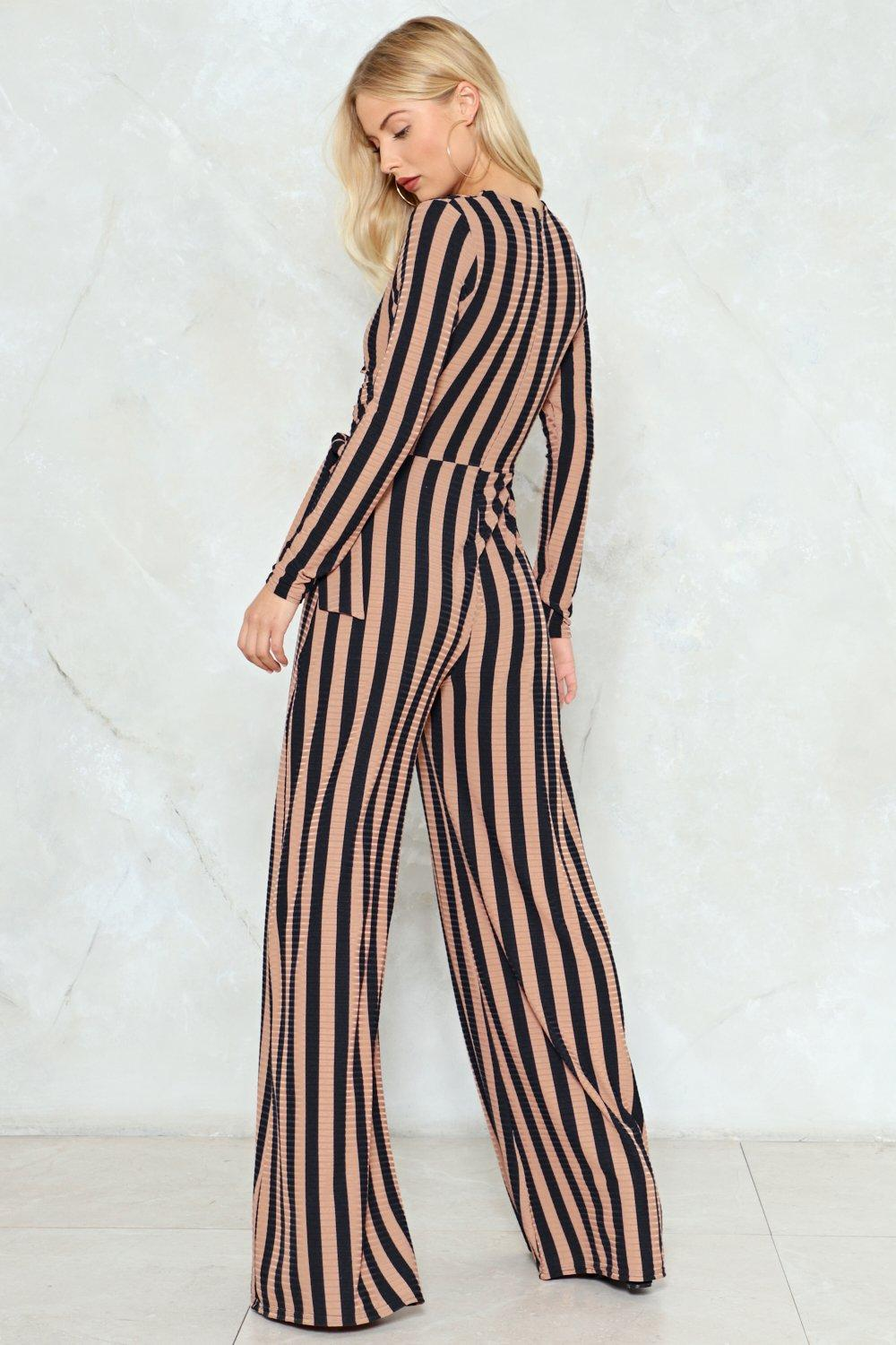 71baa6cf1c5 Stripe You Are Ribbed Jumpsuit. Stripe You Are Ribbed Jumpsuit.