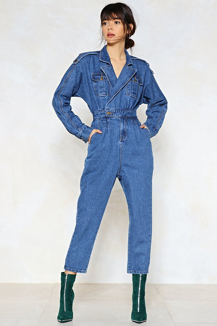 buy popular cheapest shopping Blue Jean Baby Denim Jumpsuit   Shop Clothes at Nasty Gal!