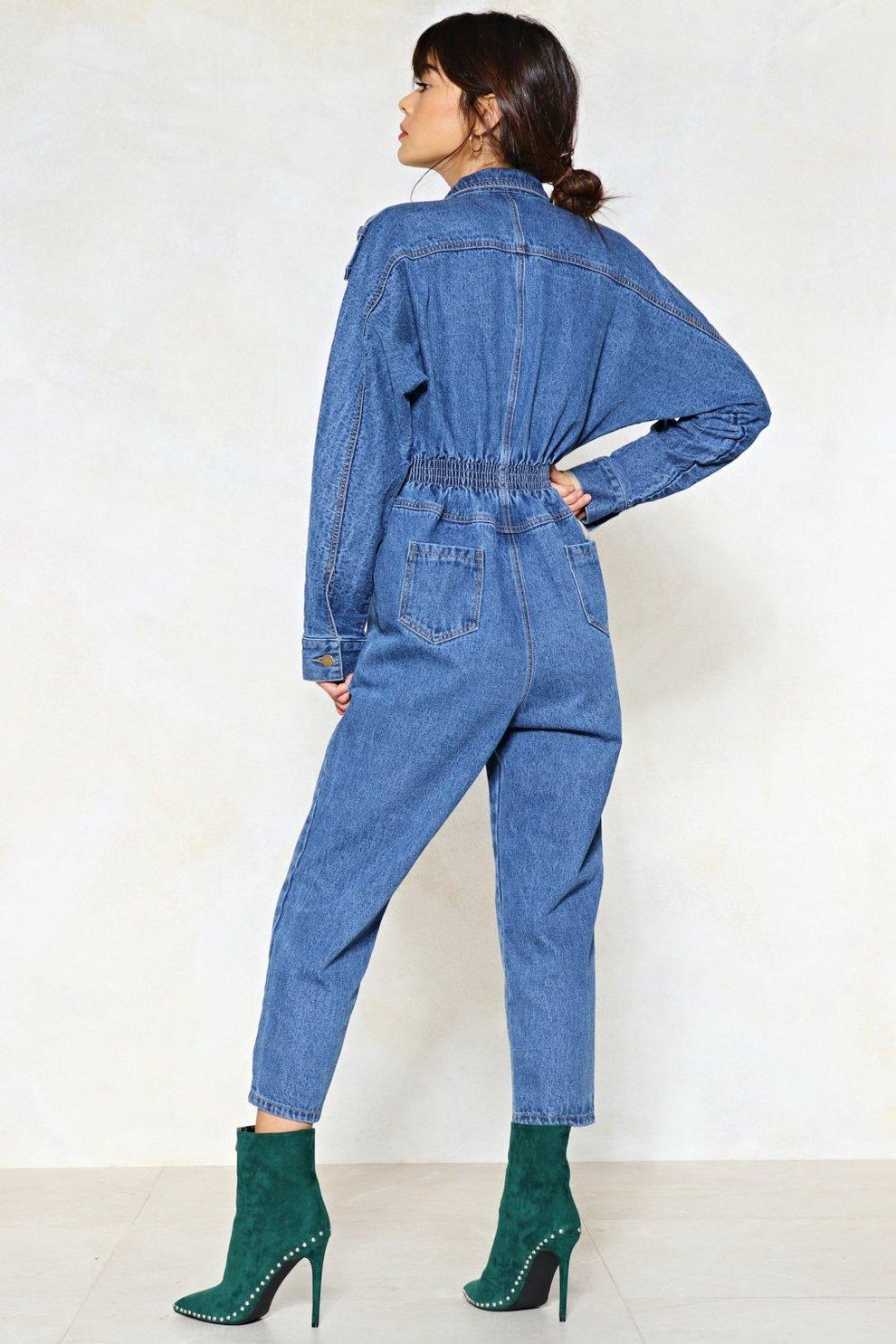 3866c364ade6 Blue Jean Baby Denim Jumpsuit