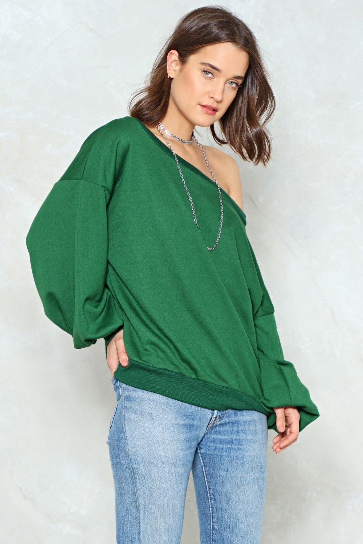 fe887ad6534 Hover to zoom · Shrug  Em Off One Shoulder Sweatshirt