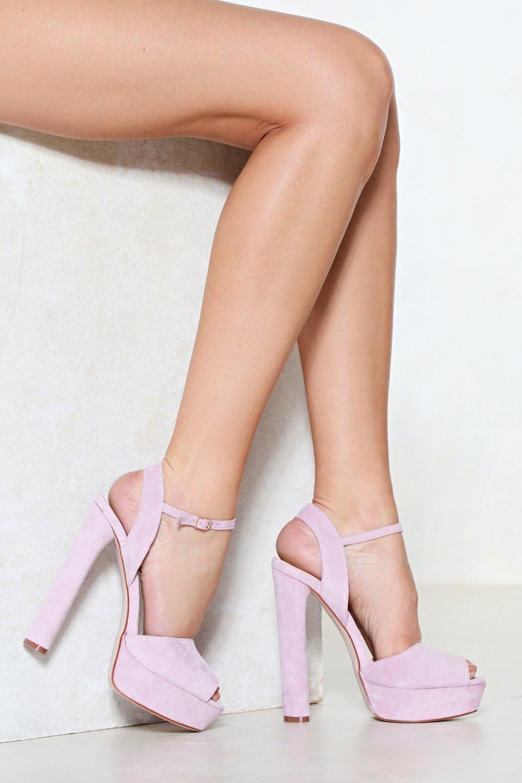 Platform heels - lilac