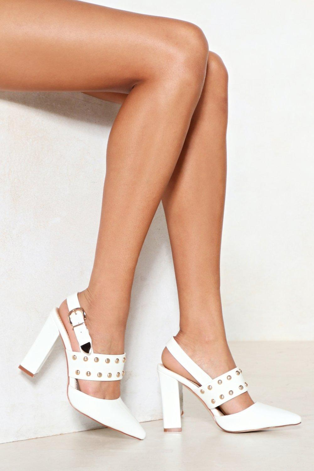 Stud Up For What You Believe in Faux Leather Heel discount great deals discount newest O3JIa0avOI