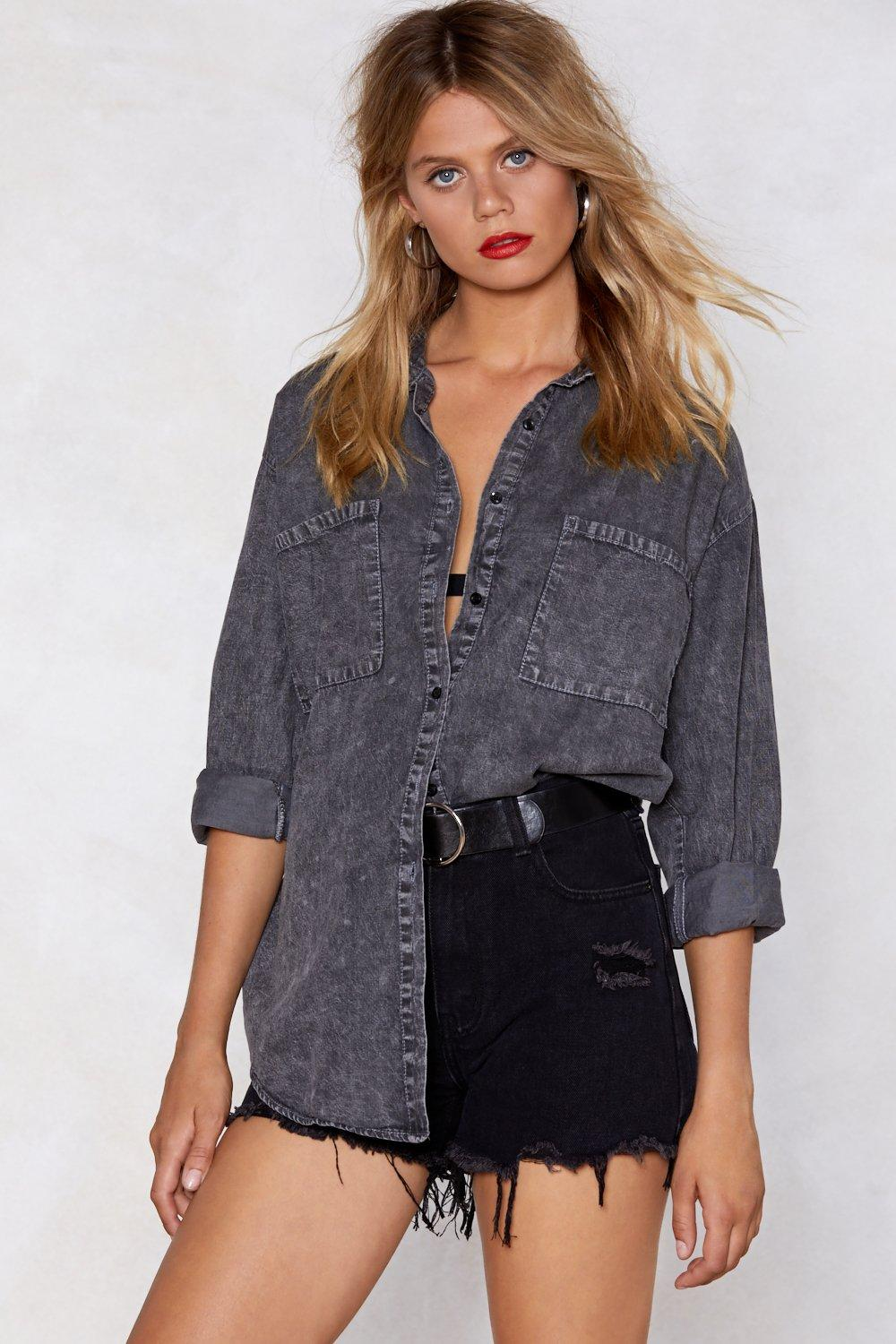 8f1d6ec2 That Doesn't Wash With Me Oversized Shirt | Shop Clothes at Nasty Gal!
