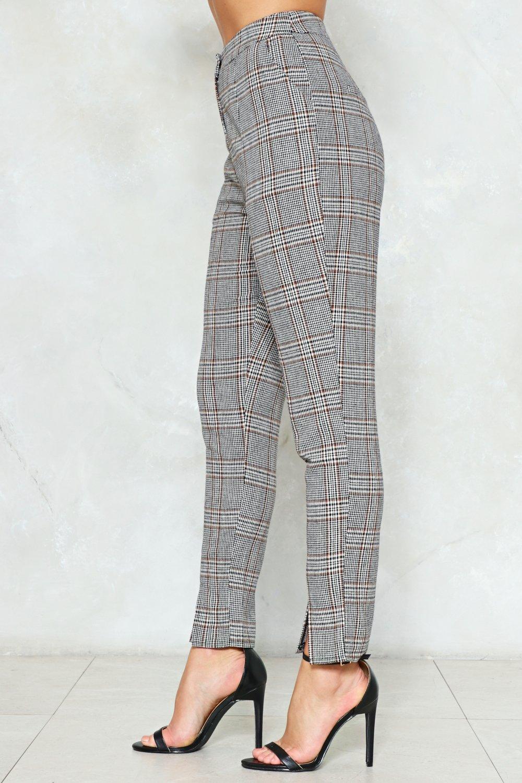 42f0431f05c4 Check Up High-Waisted Pants
