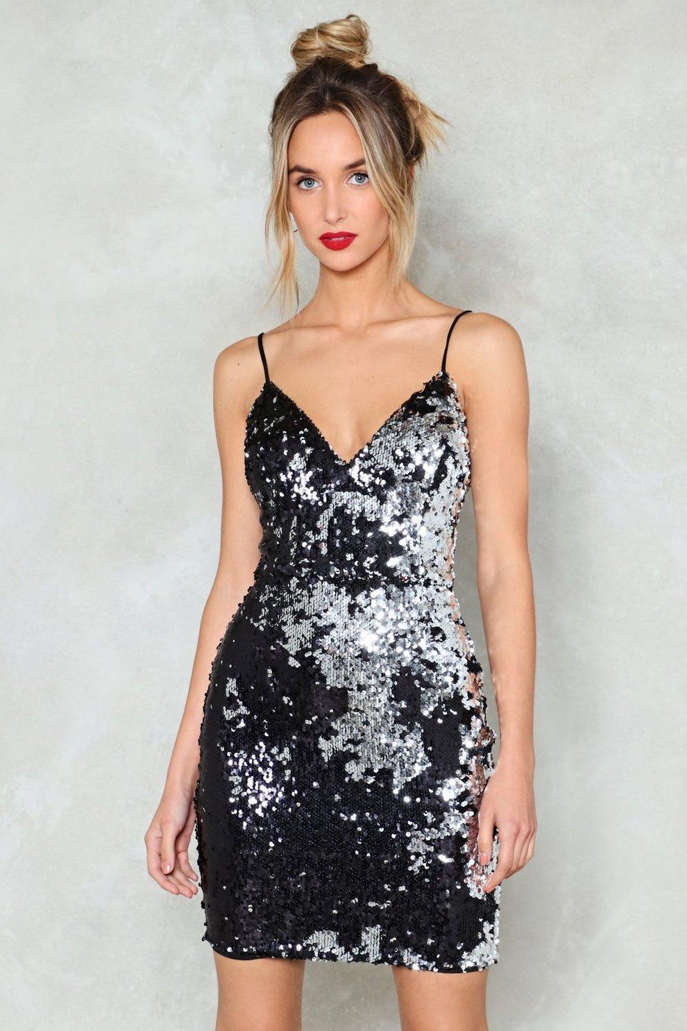 359fe686ff Waking Up in Vegas Sequin Dress