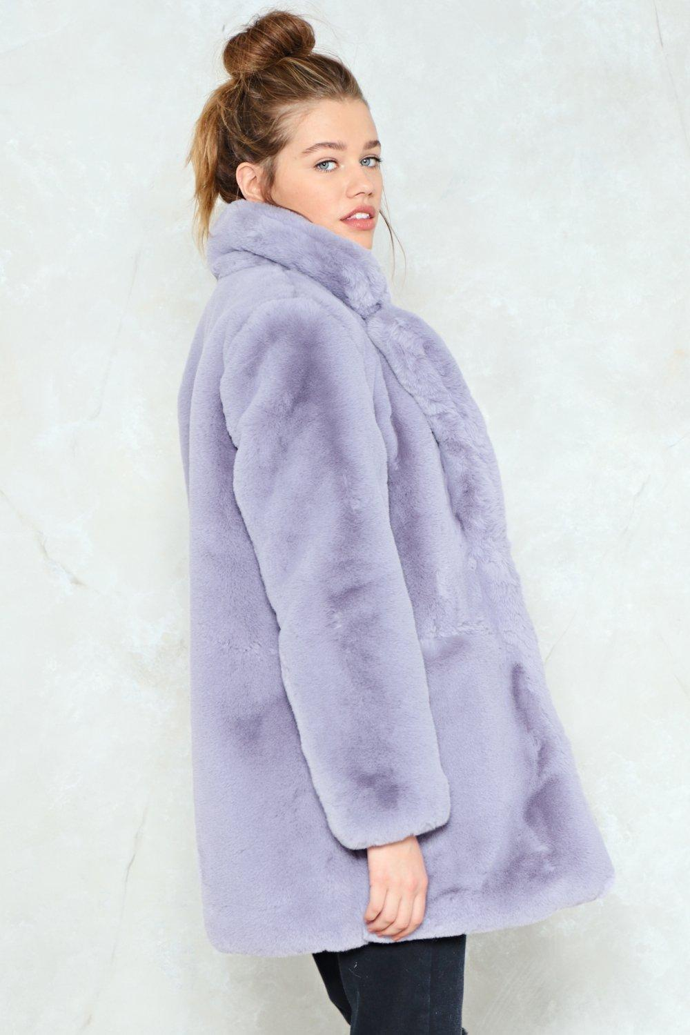 22f0d5aed33 Surfin  Bird Faux Fur Coat. Hover to zoom