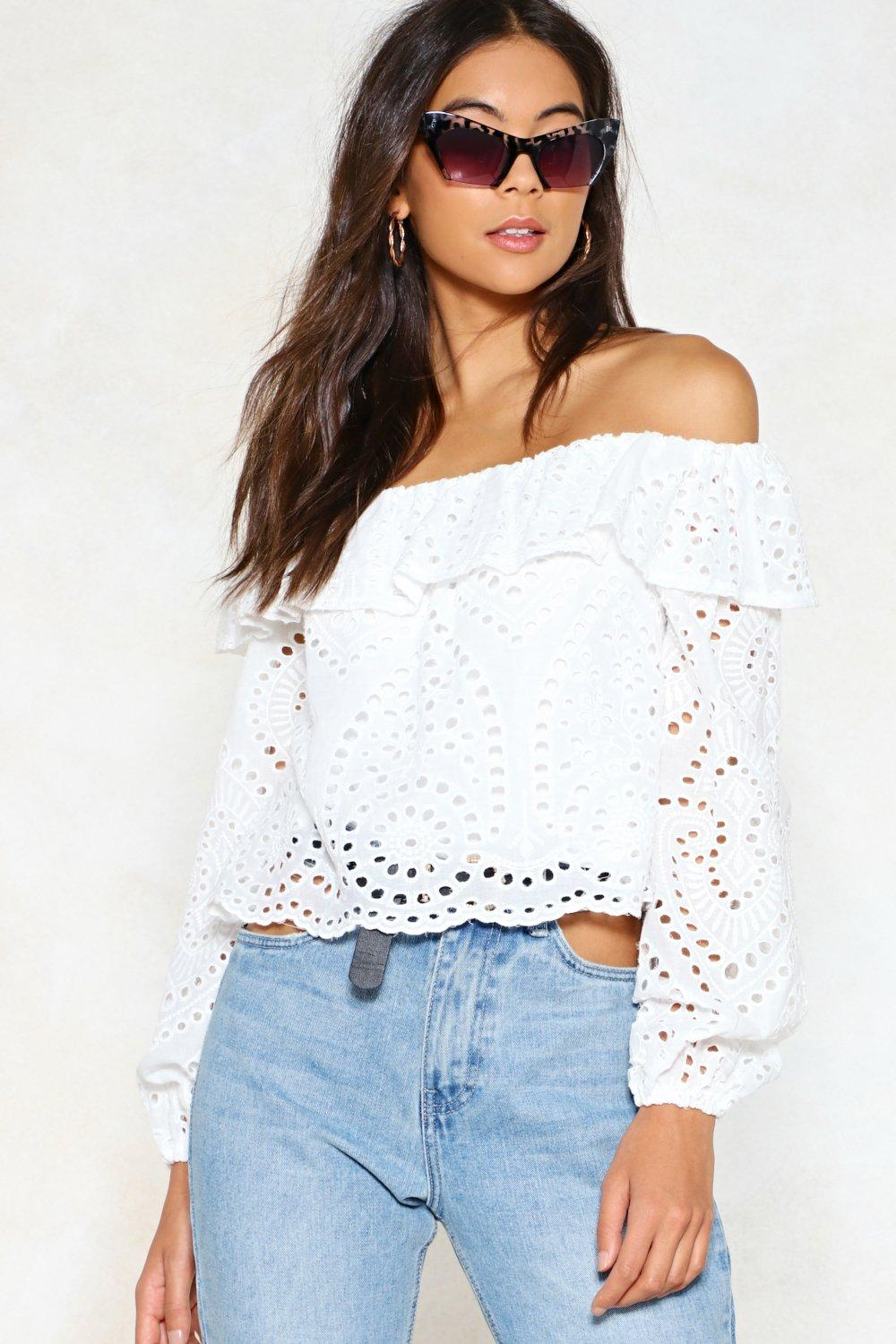 db1c45c8304 Hole-Heartedly Agree Off-the-Shoulder Top | Shop Clothes at Nasty Gal!