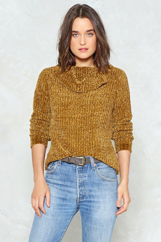b46eb123e ... Neck Chenille Sweater. Hover to zoom
