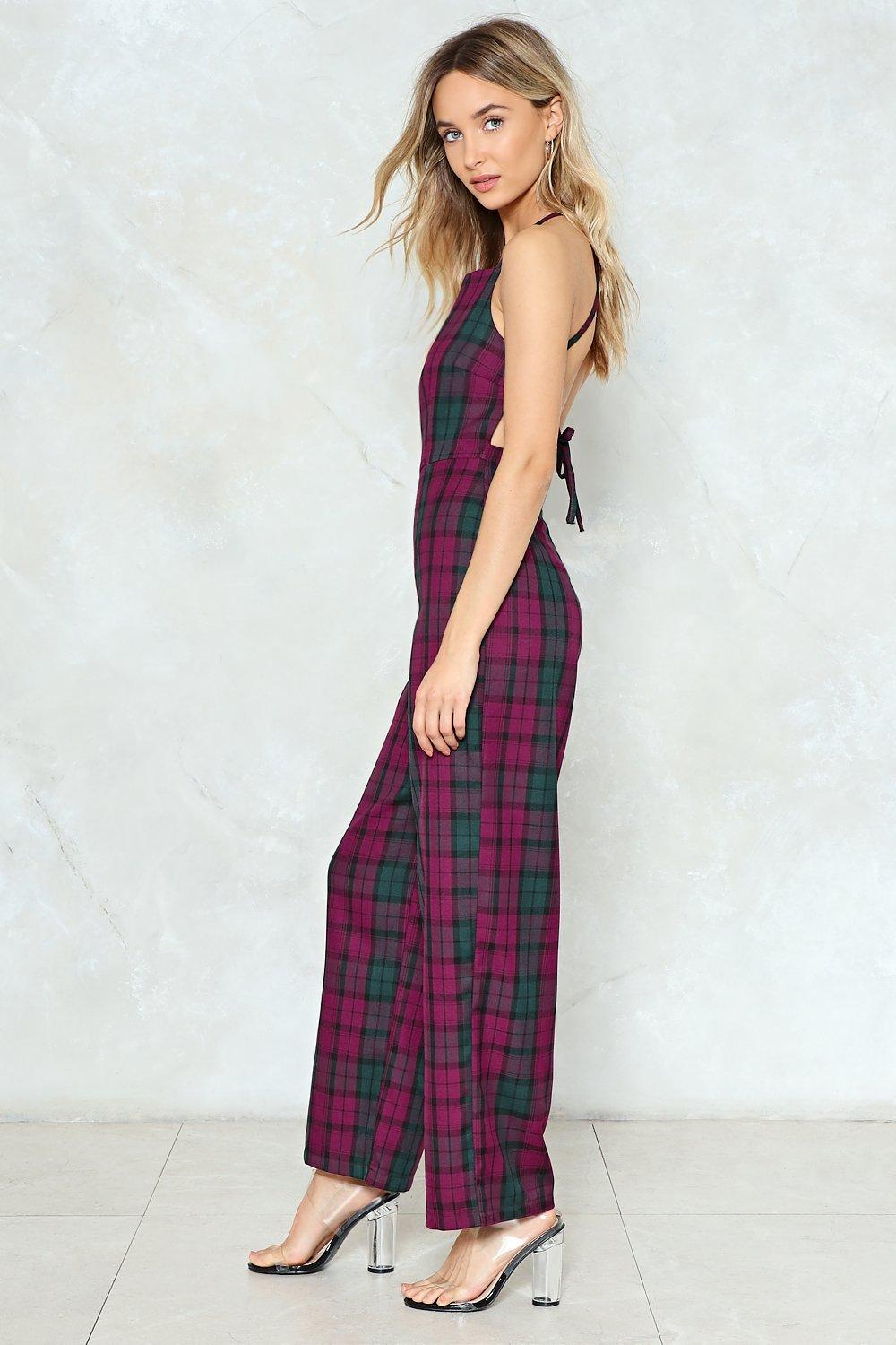 d4911972a4 Be Right Back Check Jumpsuit