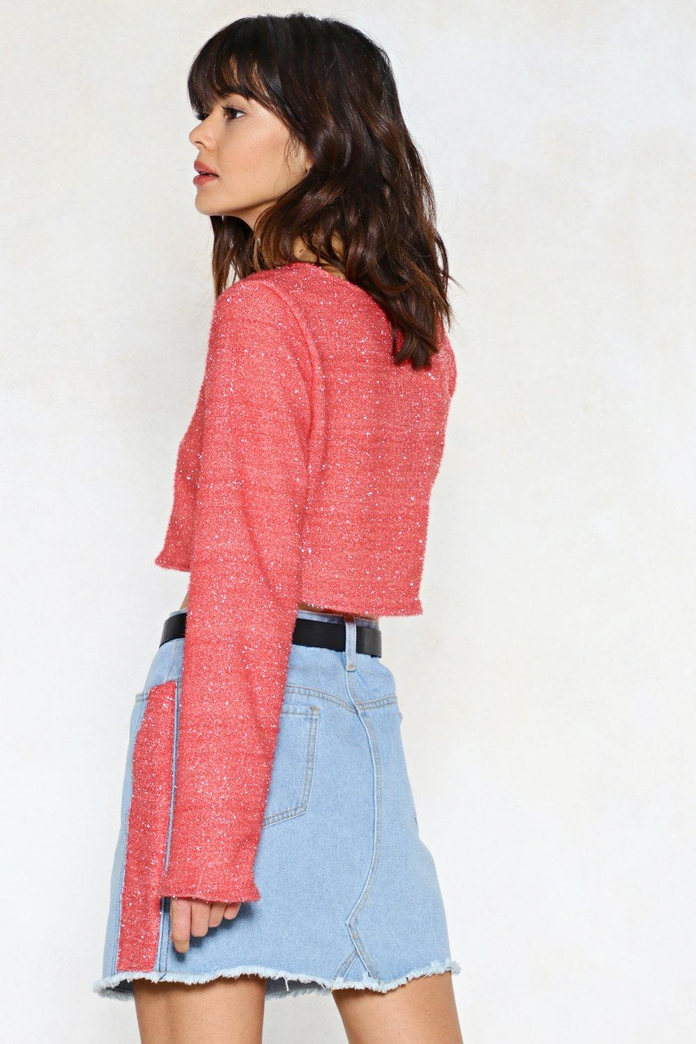 53a67c0767e7 Textured Side Stripe Denim Mini Skirt | Shop Clothes at Nasty Gal!