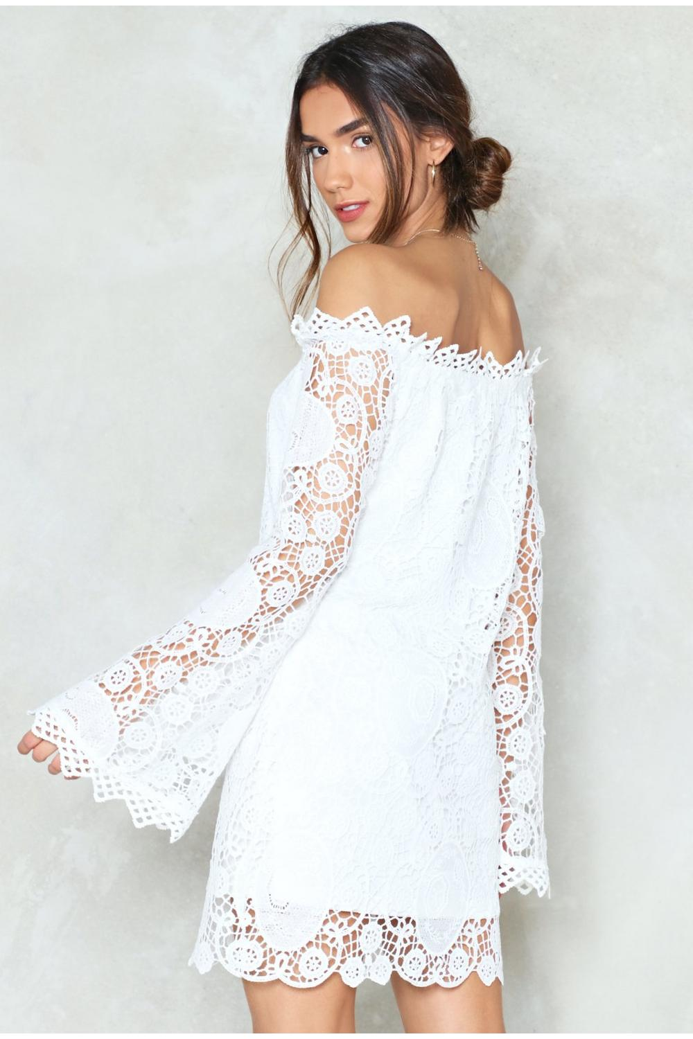 9890e921b Are You Crochet Hun Off-the-Shoulder Dress | Shop Clothes at Nasty Gal!