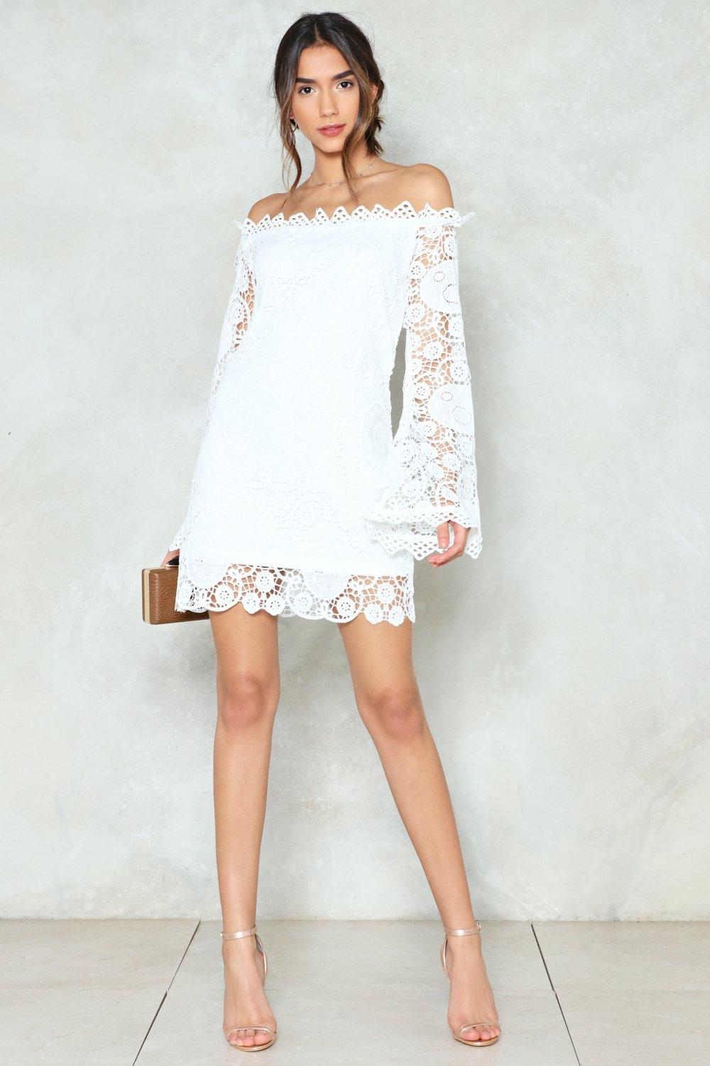 331632fa59 Are You Crochet Hun Off-the-Shoulder Dress | Shop Clothes at Nasty Gal!